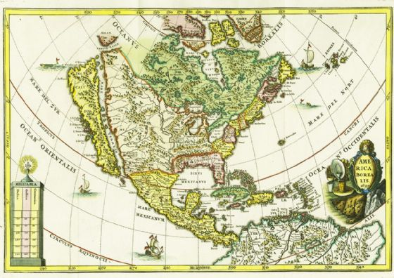 America Borealis 1699 Map of North America Print/Poster (4963)
